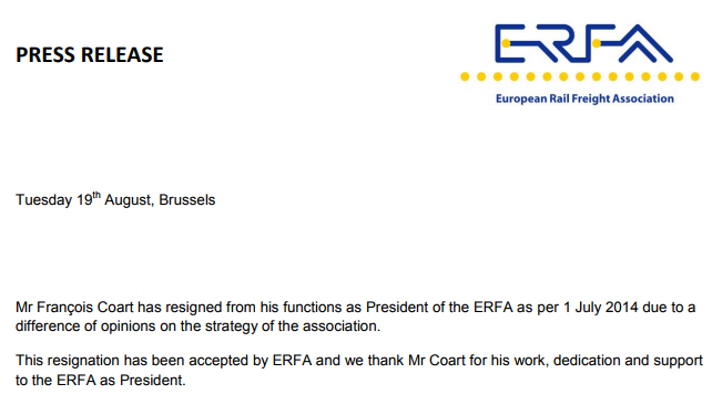 Change at ERFA board